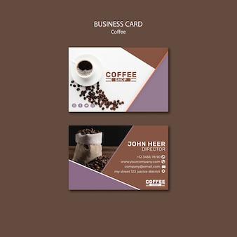 Coffeeshop sjabloon voor visitekaartjes