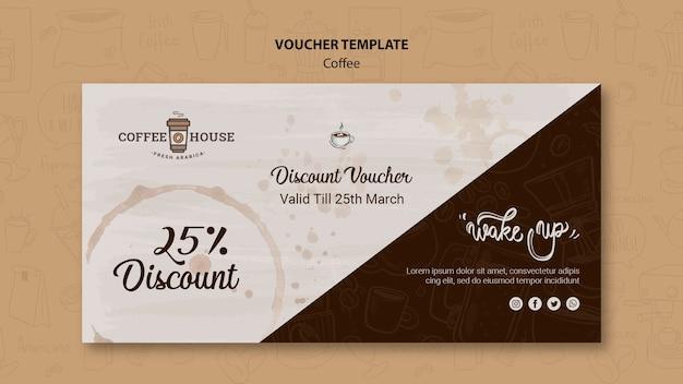 Coffeeshop voucher sjabloon