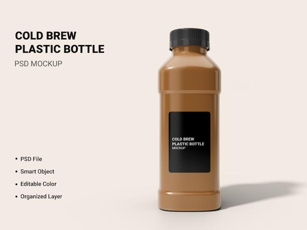 Cold brew bottle mockup geïsoleerd