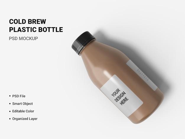 Cold brew plastic fles mockup geïsoleerd