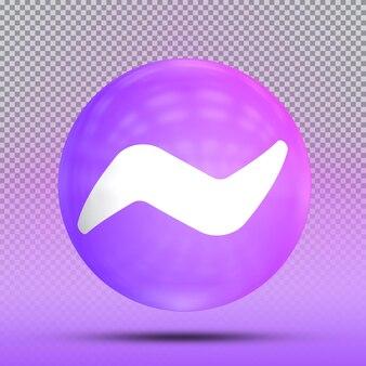 Colección 3d de redes sociales de mensajero de plantilla de globo de icono