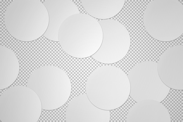 Colección aislada de pegatinas redondas