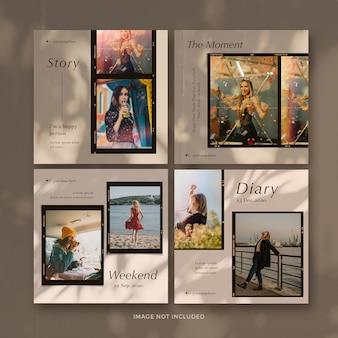 Colección de banner de post de marco de foto