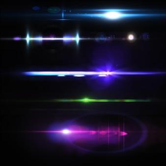 Colección de luces a color