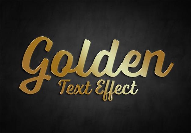 Colección de estilo de efecto de texto dorado