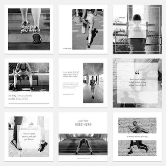 Colección floral de posts de instagram