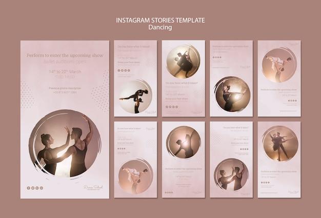 Colección de historias de instagram para artistas de baile