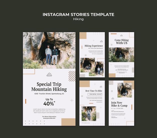 Colección de historias de instagram para caminatas en la naturaleza