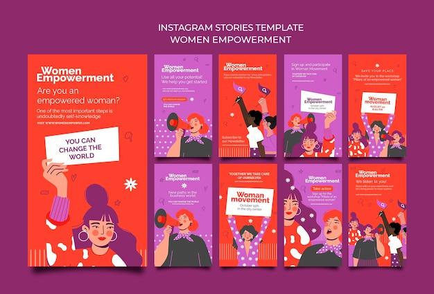 Colección de historias de instagram para el empoderamiento de las mujeres