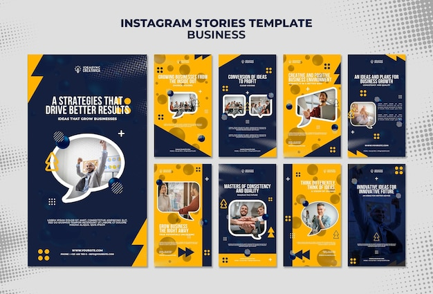 Colección de historias de instagram para empresas