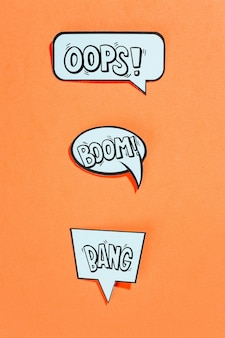 Colección de maquetas de burbujas de texto