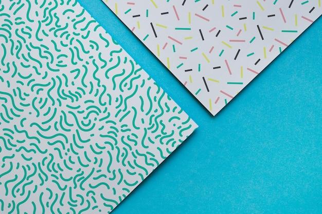 Colección de mockup de covers geométricos