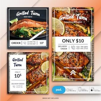 Colección de pancartas de restaurante