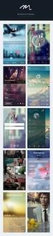 Colección pantallas de aplicaciones para iphone