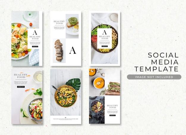 Colección de plantillas de publicaciones de alimentos psd