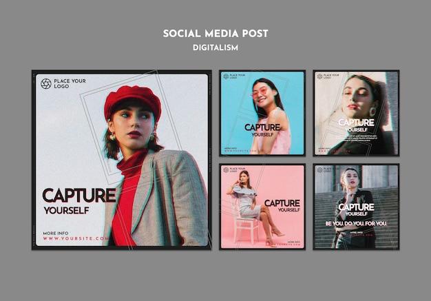 Colección de publicaciones de instagram para capturar tu propio tema
