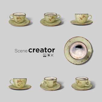 Colección de taza de café vintage