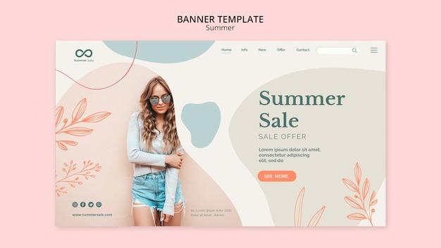 Colección de verano diseño de banner