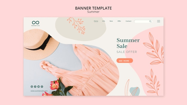 Colección de verano estilo banner