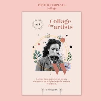 Collage para plantilla de póster de artistas