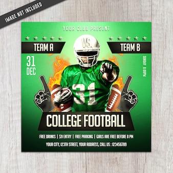 College voetbal folder
