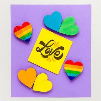Collezione cuore con nota d'amore