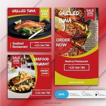 Collezione di banner ristorante