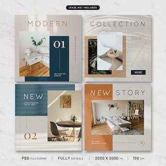 Collezione di modelli di mobili moderni post