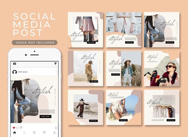 Collezione di modelli di moda post