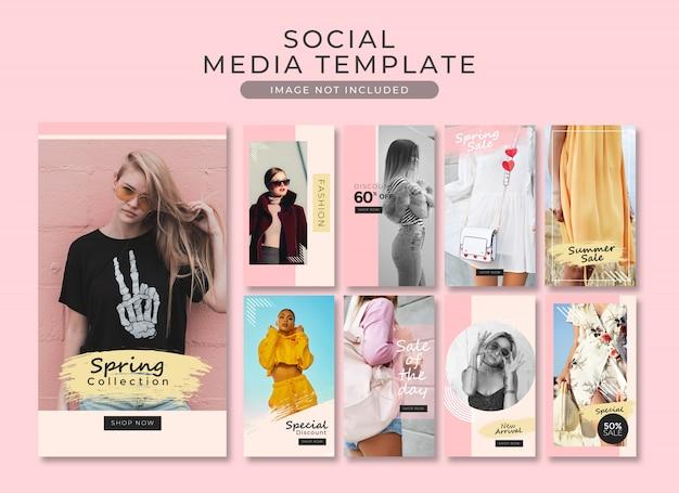 Collezione di modelli post instagram story estate