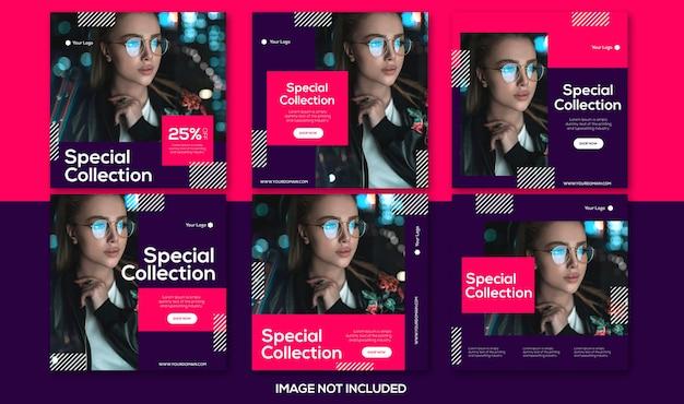 Collezione di modelli post vendita instagram di moda