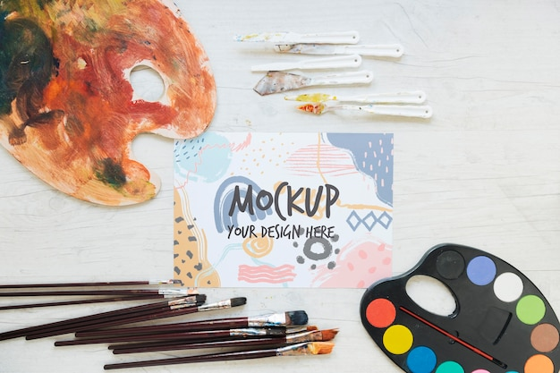 Collezione di pennelli per pittura e acquerelli