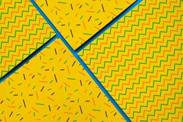 Collezione geometrica mockup collectio