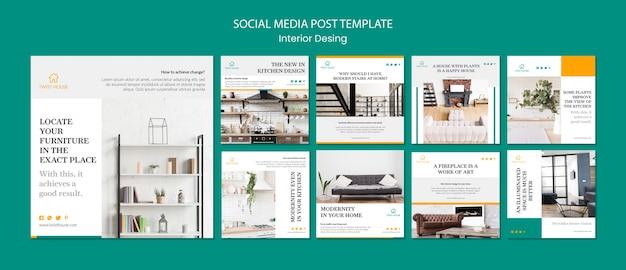 Collezione post instagram per l'interior design