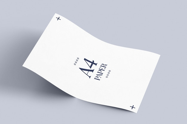 Colocación de maqueta de papel a4
