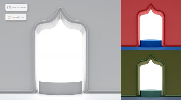 Colocación de productos de podio de marco simple en 3d