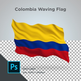 Colombia vlag wave transparant psd