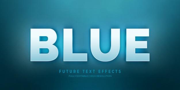 Color de efecto de estilo de texto 3d azul del año