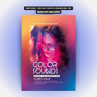 Color suena fiesta flyer