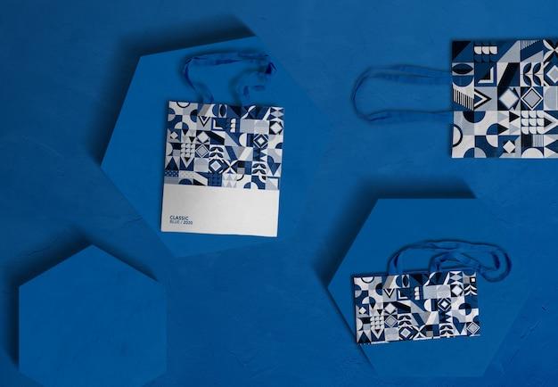 Colore del mockup del marchio dell'anno 2020