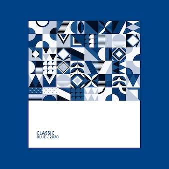 Colore del poster geometrico dell'anno 2020
