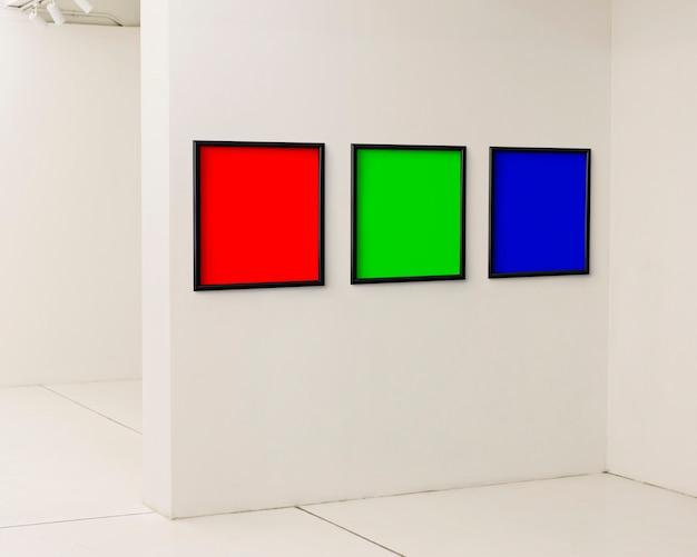 Colores primarios en marcos