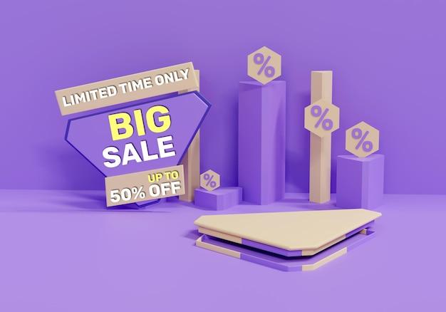 Colorfull realista de gran venta 3d