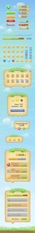 Colorida interfaz del juego para móviles