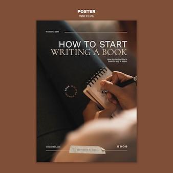 Come iniziare a scrivere un modello di poster per libri