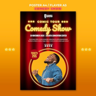 Comedy show flyer-sjabloon