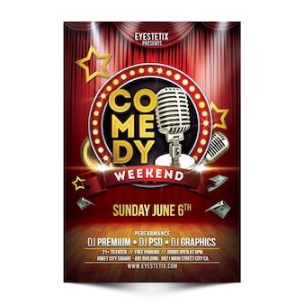 Comedy weekend flyer