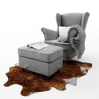 Comfortabele moderne stoel geïsoleerd