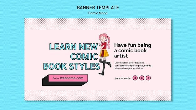 Comic ontwerpsjabloon voor spandoek