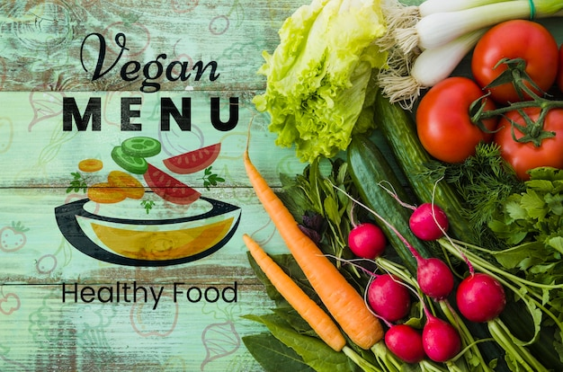 Comida hecha de vegetales orgánicos.